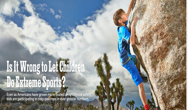 Should Kids Take Part In Extreme Sports?