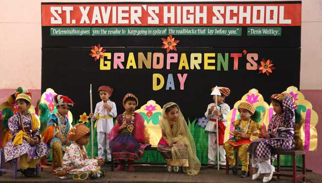 Grandparents' day and roller skating at St Xavier's school,HR