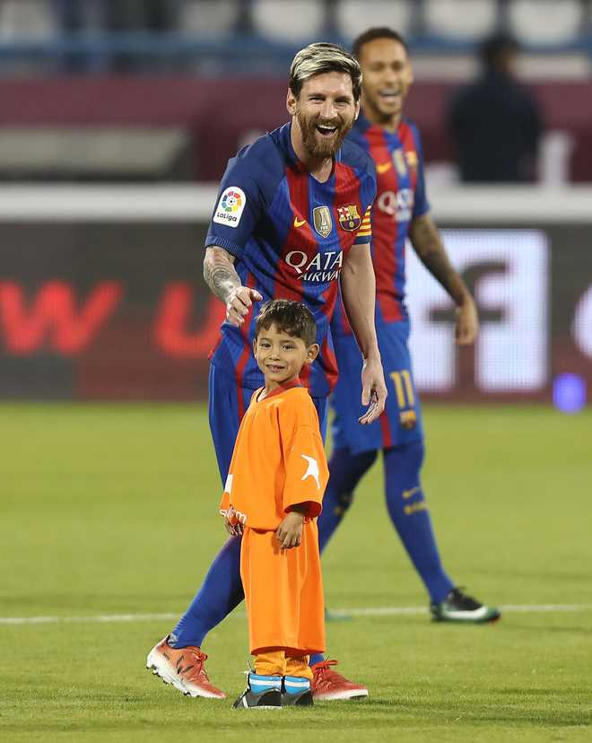 Messi Meets Afghan Boy Who Became Viral Star