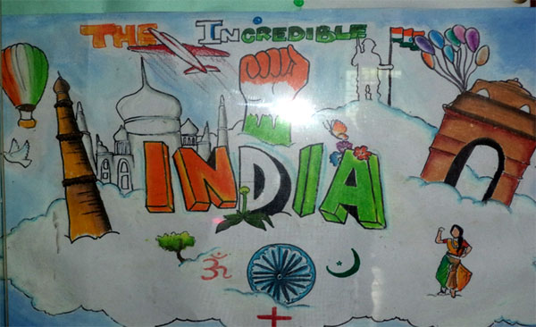 Veer Kulkarni's Painting 'India'