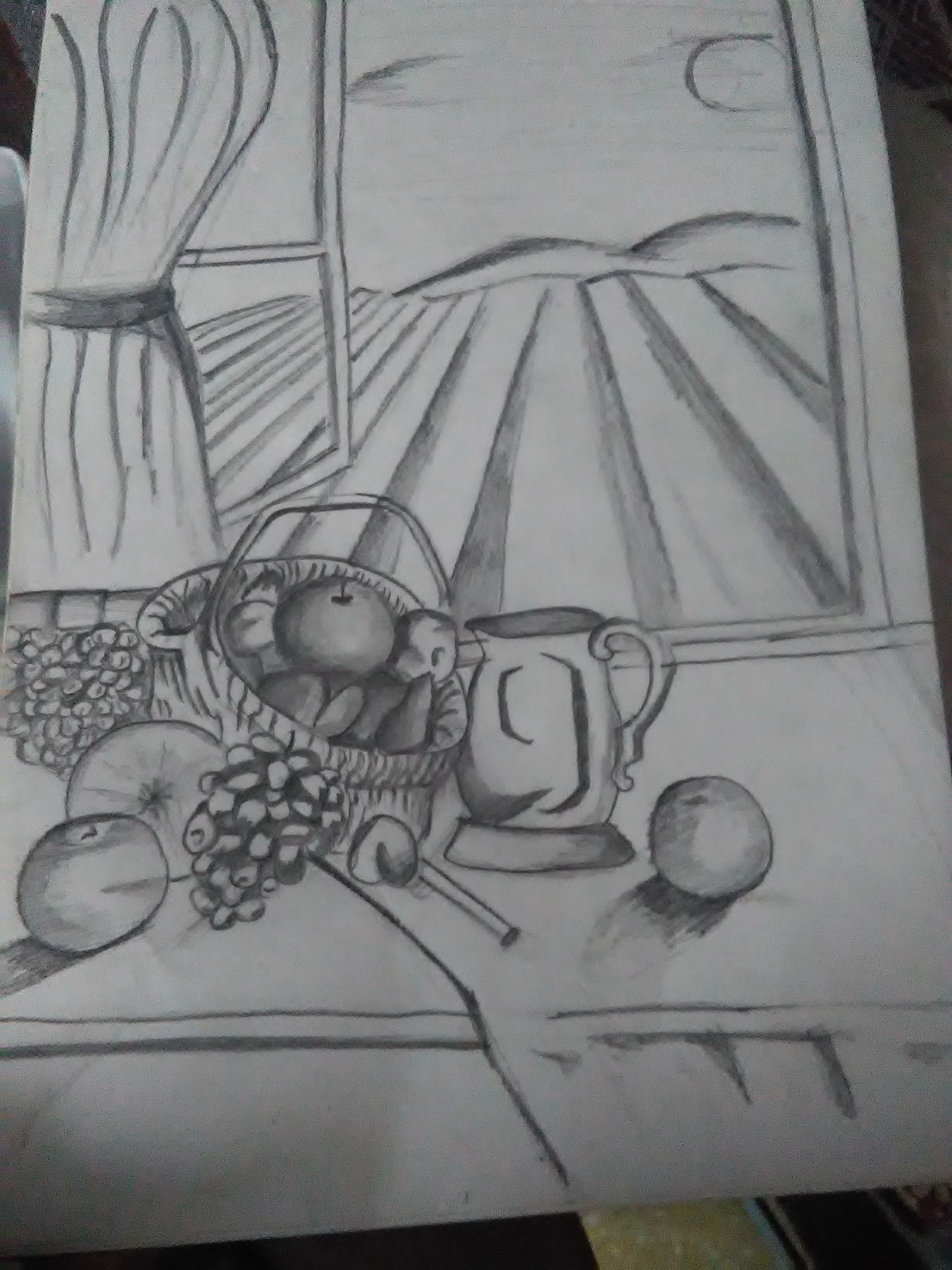 Piyush Chauhan' Sketch Fruity Basket