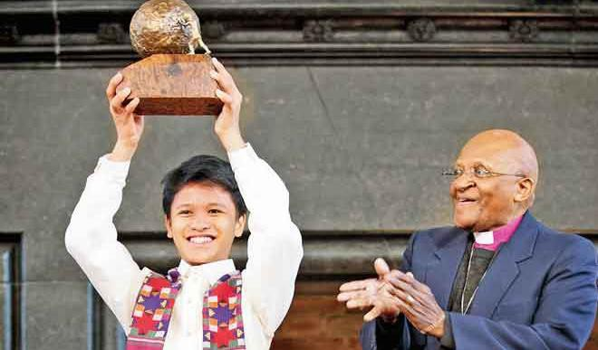 Cris Wins Int'l Children's Peace Prize