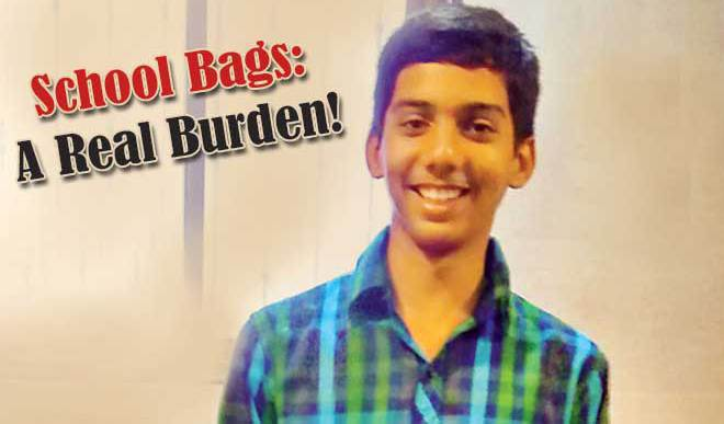 Sudhanshu Says School Bags Burden Students Body, Mind