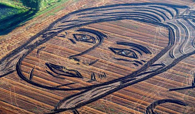 Hillary Is A Tractor Artist's Muse