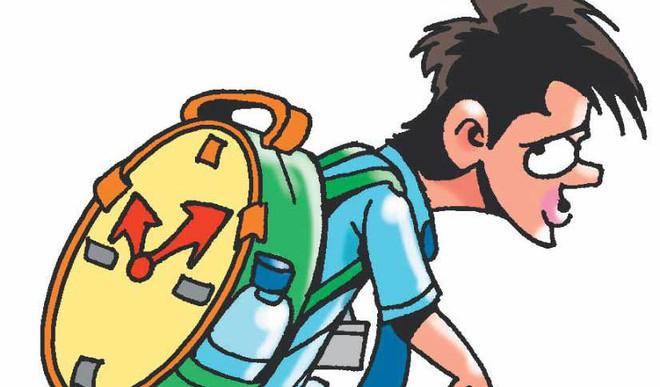 12-Year-Old School Boy Plans Protest Against Heavy School Bags
