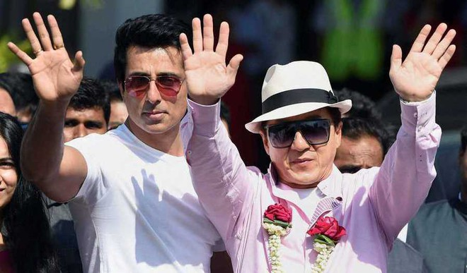 Jackie Chan Arrives In India