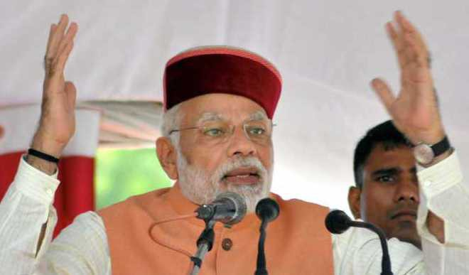Modi Asks HP Electors to vote In Large Numbers