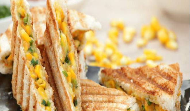 Spinach Corn Sandwich For Weekend