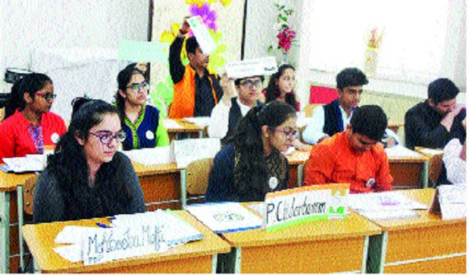 A Solicitous Conclave Of Students