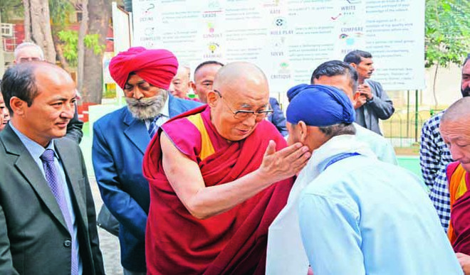 Dalai Lama At Salwan Public School, Rajendra Nagar