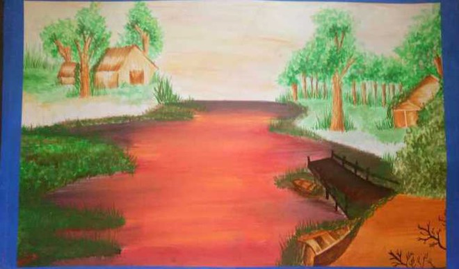 Painting By: Anshika Negi, IX, Army Public School, Birpur