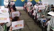 Children Express Creativity Through Artwork