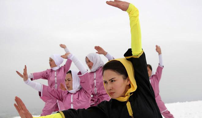 Afghan Women Practice Shaolin