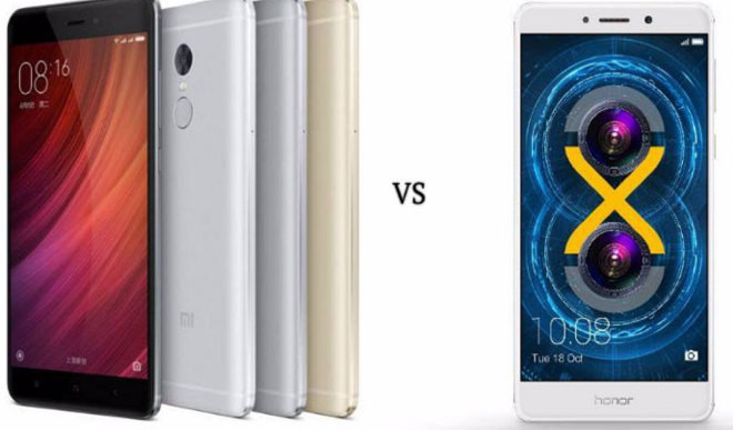 Honor 6X vs Xiaomi Redmi Note 4