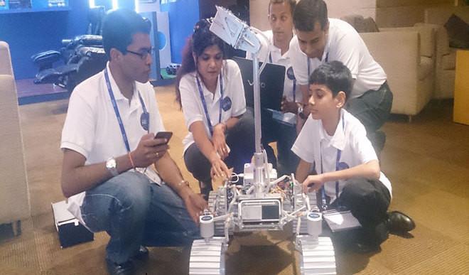 Kid Helps Build Moon Rover