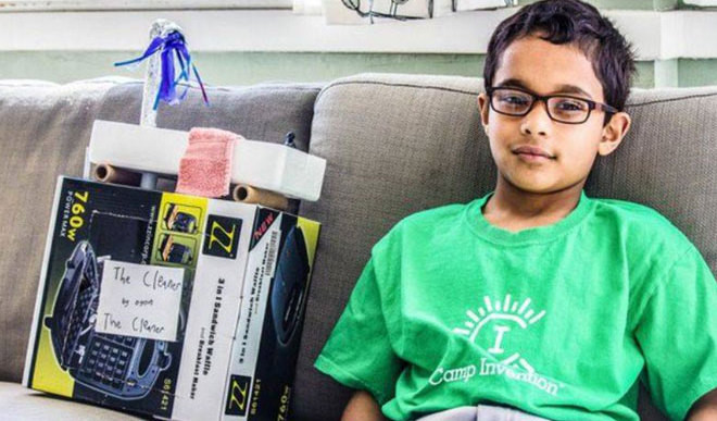 Kid Invents Device To Save Water