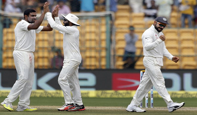Ashwin Spins India To 75-run Win In 2nd Test