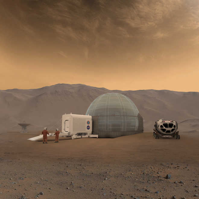 Icy Abodes For Martian Settlers?