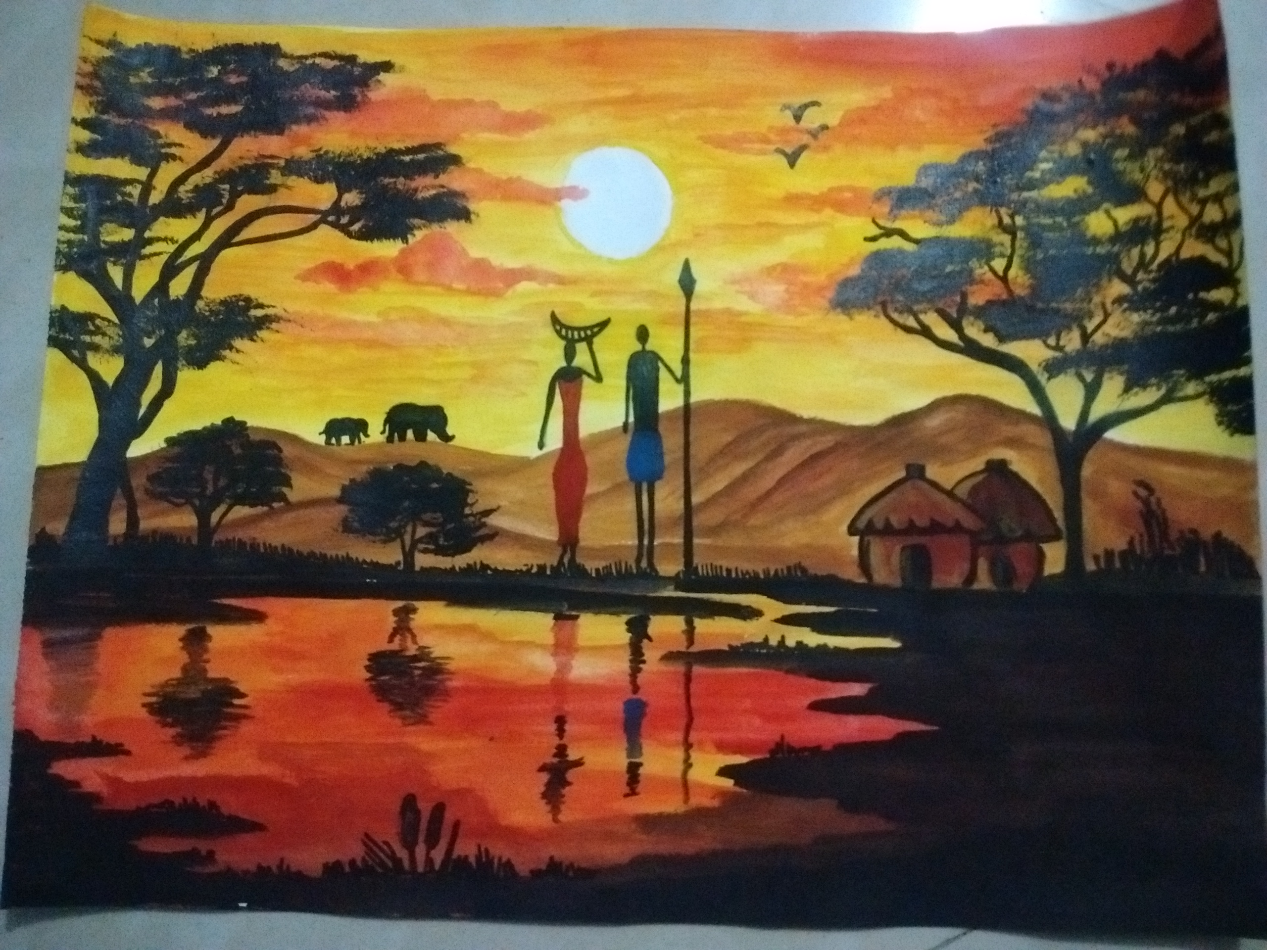 Shubha's Painting On Nature