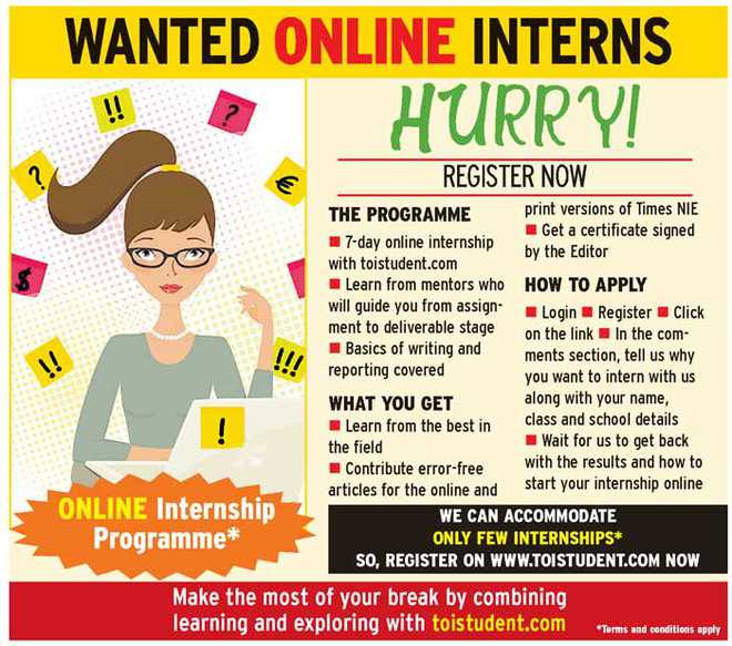 Online Internship Programme. Apply Now!