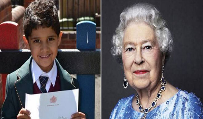 4-Yr-Old Boy Invites Queen For His Birthday