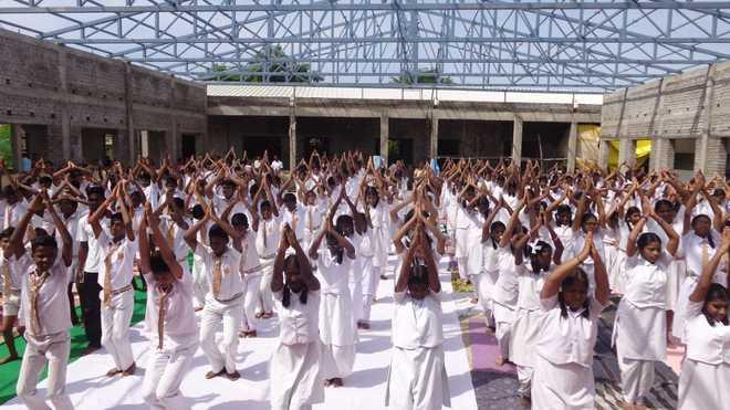 Sri Bala Vidyalaya's Yoga Day Celebration