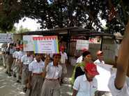 Students And Teachers Spread Awareness About Environment