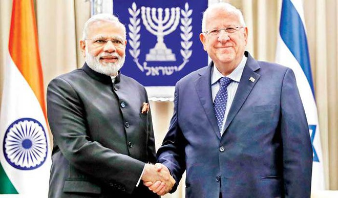 Israel President Breaks Protocol To Greet Modi