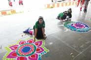 Creativity At Rangoli Contest