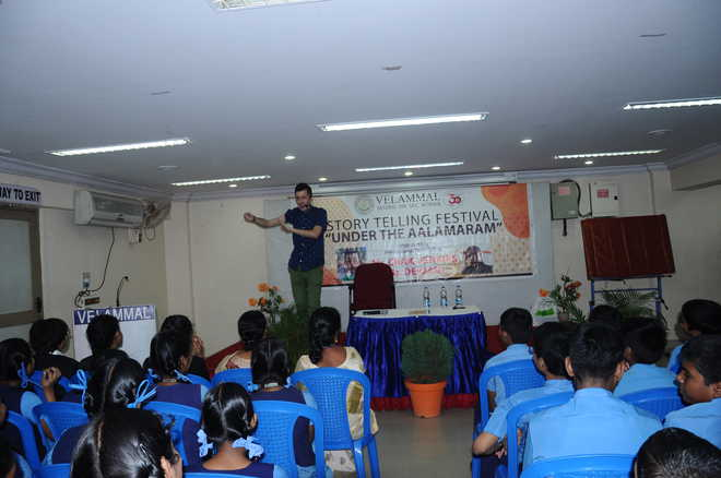 International Story Telling workshop conducted at Velammal
