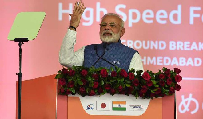Modi Dedicates Narmada Dam To The Nation