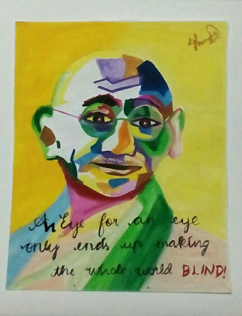 Hemalatha.G: Tribute to Gandhiji!