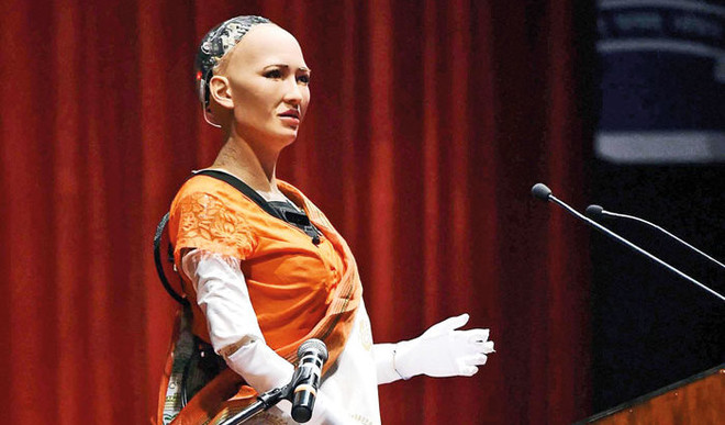 World's First Robo Citizen Visited IIT-Bombay