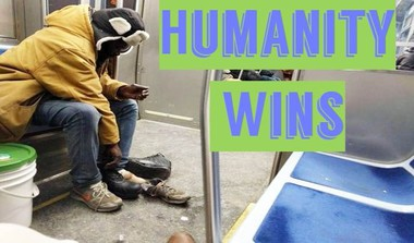 Man Gives Away His Boots To A Homeless Man