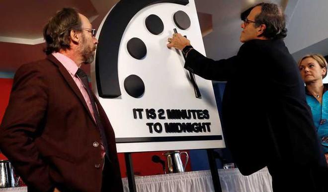 Doomsday Clock At 2 Mins To Midnight