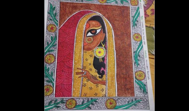 Muskan Paints The Indian Monalisa