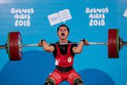Jeremy Wins 1st Youth Oly Gold