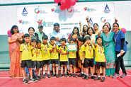 Pre-schoolers Make Football Debut