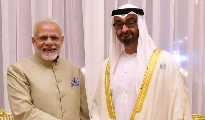 Burj Khalifa Is Lit Up With Tricolour As PM Modi Visits