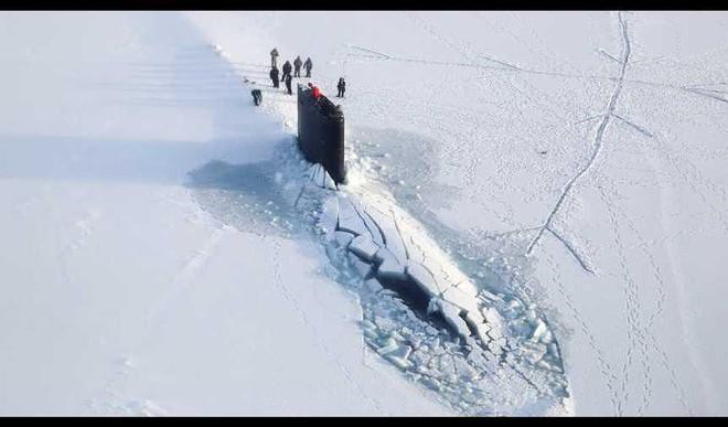 Watch: A Giant Submarine Break Through The Arctic Ice
