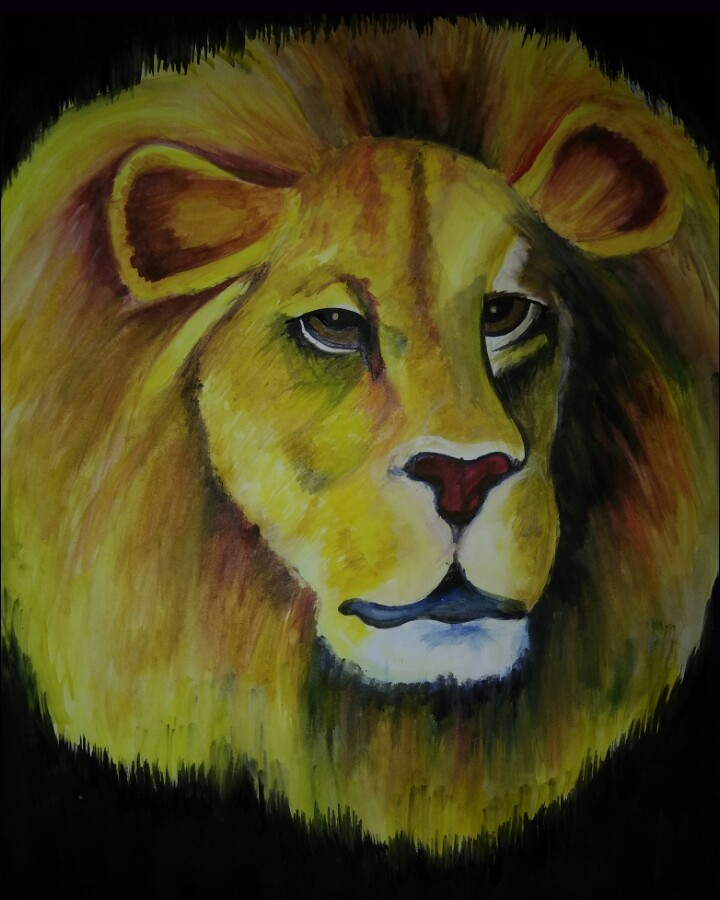 Water Color Painting - Lion