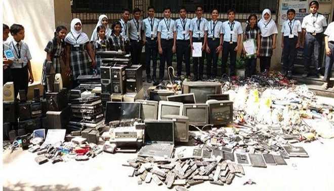 Inamullah Describes E-waste Collection At School