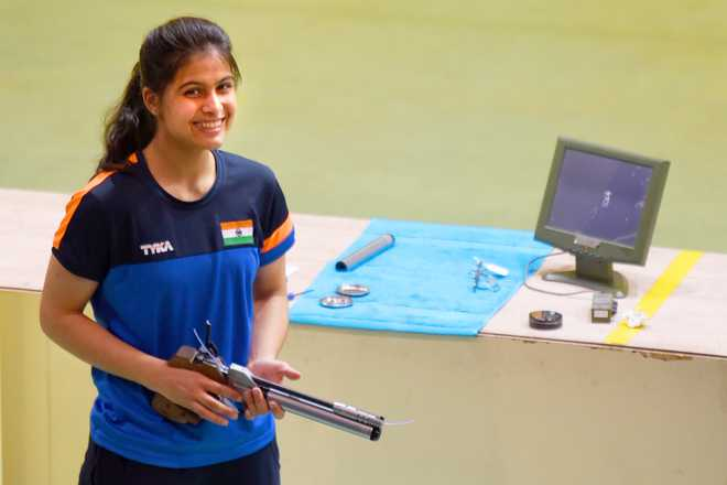 Manu Bhaker Stars At ISSF Junior WC