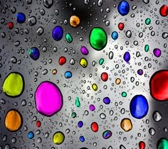Vedika Writes On Colourful Raindrops