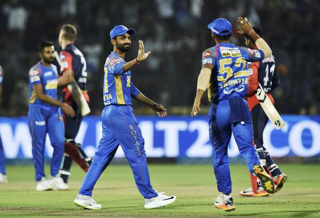 Rajasthan Royals Beat DD By 10 Runs