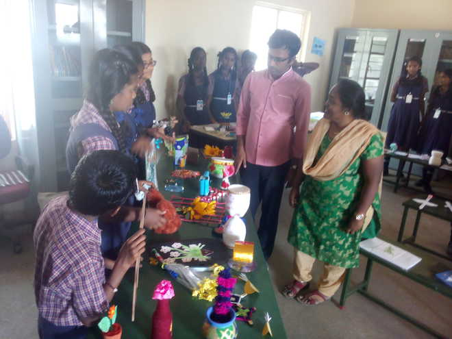 Artistic fiesta held at Smt.D.Padmavathi Ammal school