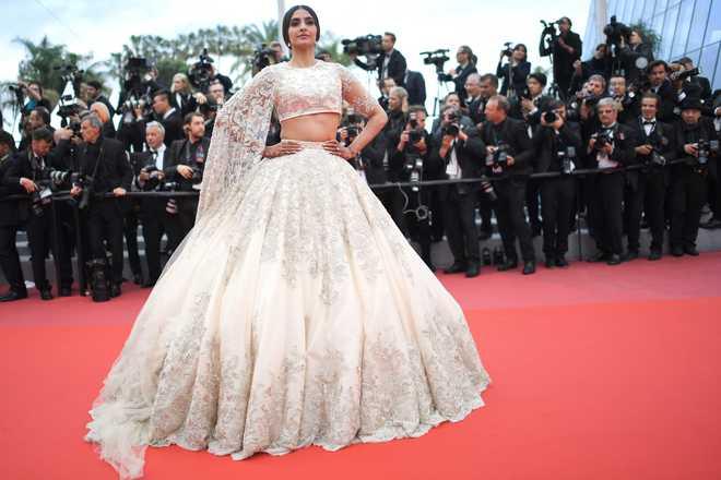 Sonam Kapoor Walks Red Carpet At Cannes