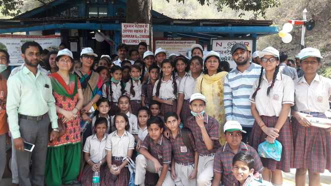 Students Take Part In Cleanliness Drive