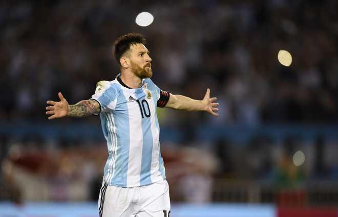 Messi Scores 3, Argentina Win 4-0