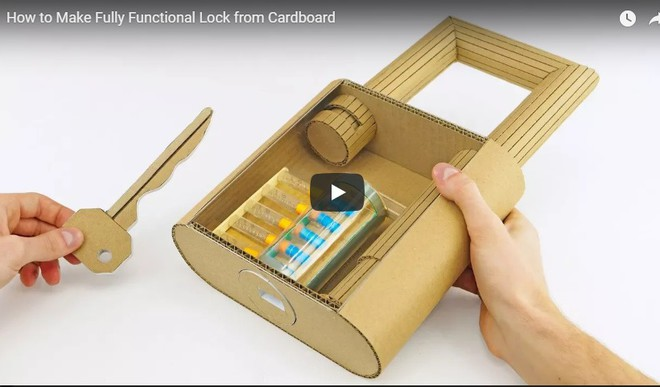 Make A Functional Lock from Cardboard